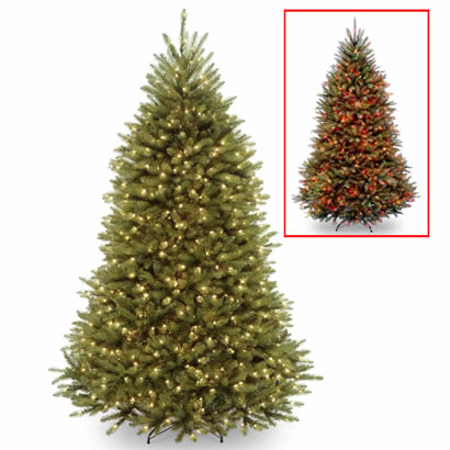 6 Ft. Dunhill Fir Christmas Tree w/ 700 Dual LED Lights & Footswitch