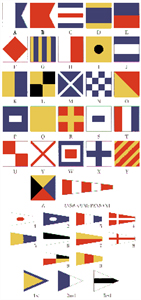 Set of 40 Large Nylon Nautical Code Signal Flags