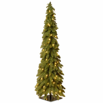 48 In. Downswept Christmas Forestree with 100 Clear Lights