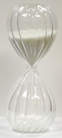 10 Minute Twisted Modern Glass Sand Timer w/ White Sand