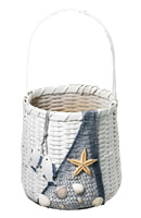 Nautical Basket w/ Netting & Shells
