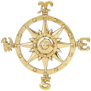 Small Brass Compass Rose