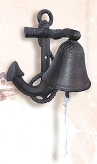 Rust Cast Iron Anchor Bell