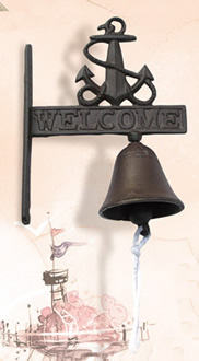 Rust Cast Iron Welcome Anchor Bell