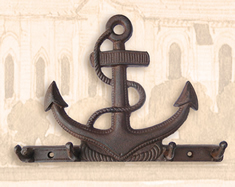 Rust Cast Iron Anchor Hook