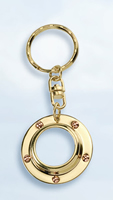 Set of Two Porthole/Magnifying Glass Keychains