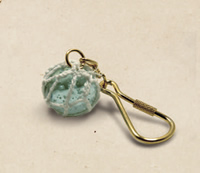 Set of Two Glass Float Keychains