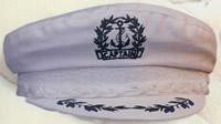 Medium White Cotton Captain Hat