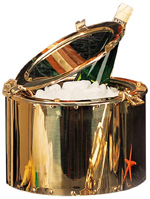 Polished Brass Porthole Ice Bucket w/ Lacquer Coating