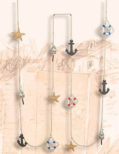 Anchor, Life Ring, Buoy & Starfish Garland