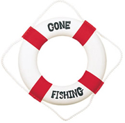 Red/White Gone Fishing Life Ring