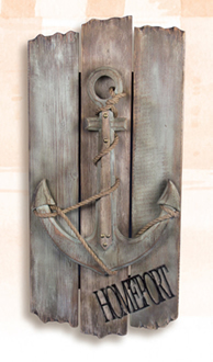 Wooden Homeport Anchor Plaque