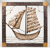 Metal Framed Ship Sculpture