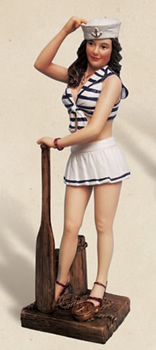 Lady Sailor Figurine w/ Paddle