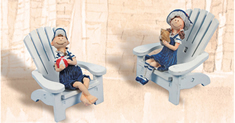 Set of Two Sailor Kids on Chair