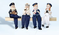 Set of Four Young & Old Sailors