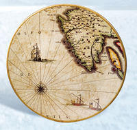 Nautical Map Plate