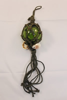 Green Glass Buoy Float w/ Rope