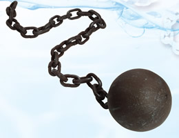 Decorative Styrofoam Ball & Chain