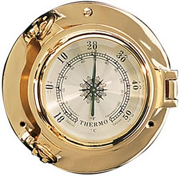 Brass Porthole Thermometer