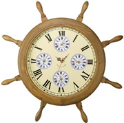 Ship Wheel World Clock