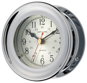 Nickel Plated Brass Captain Clock
