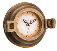 Wooden Porthole Clock