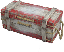 Distressed Wood Pirate Treasure Chest