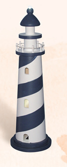 Blue & White LED Lighthouse