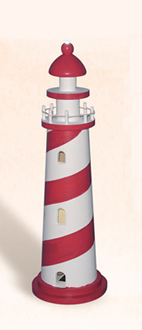 Red & White LED Lighthouse