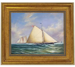 Sloop Maria Racing America Oil on Canvas Painting
