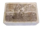 Harbor Scrimshaw Bone Box