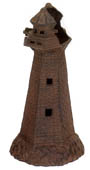 Rust Lighthouse Candle Holder