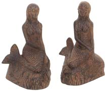 Rust Mermaid Bookends
