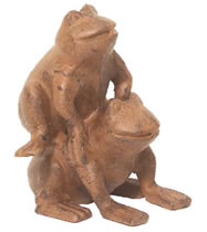 Cast Iron Jumping Frog Paperweight