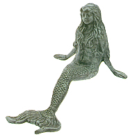 Green Leaning Mermaid