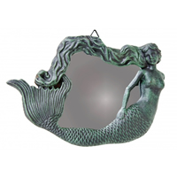 Cast Iron Rust Mermaid Mirror