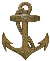 Rust Welcome Anchor Plaque