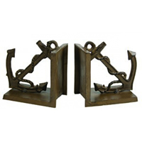Cast Iron Rust Anchor Bookends