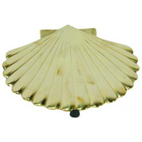 Polished Brass Scallop Shell Trivet
