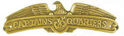 Aluminum Captain's Quarter Plaque w/ Antique Brass Finish