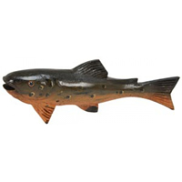Wood Rainbow Trout Carving