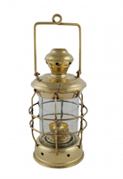 Polished Brass Anchor Oil Lantern