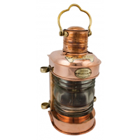 Polished Copper Masthead Oil Lantern