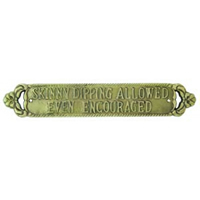 Skinny Dipping Plaque