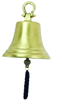 Large Aluminum Bell w/ Antique Brass Finish