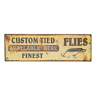 Custom Flies Tin Sign