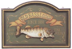 Old Bass Lodge Sign