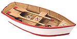 Wooden Boat w/ Paddles