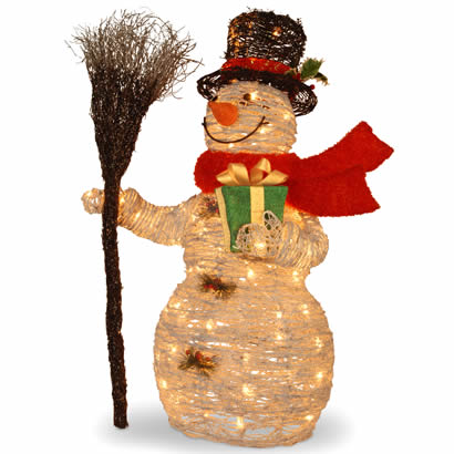 35 In. Snowman Christmas Decoration w/ 70 Clear Outdoor Lights
